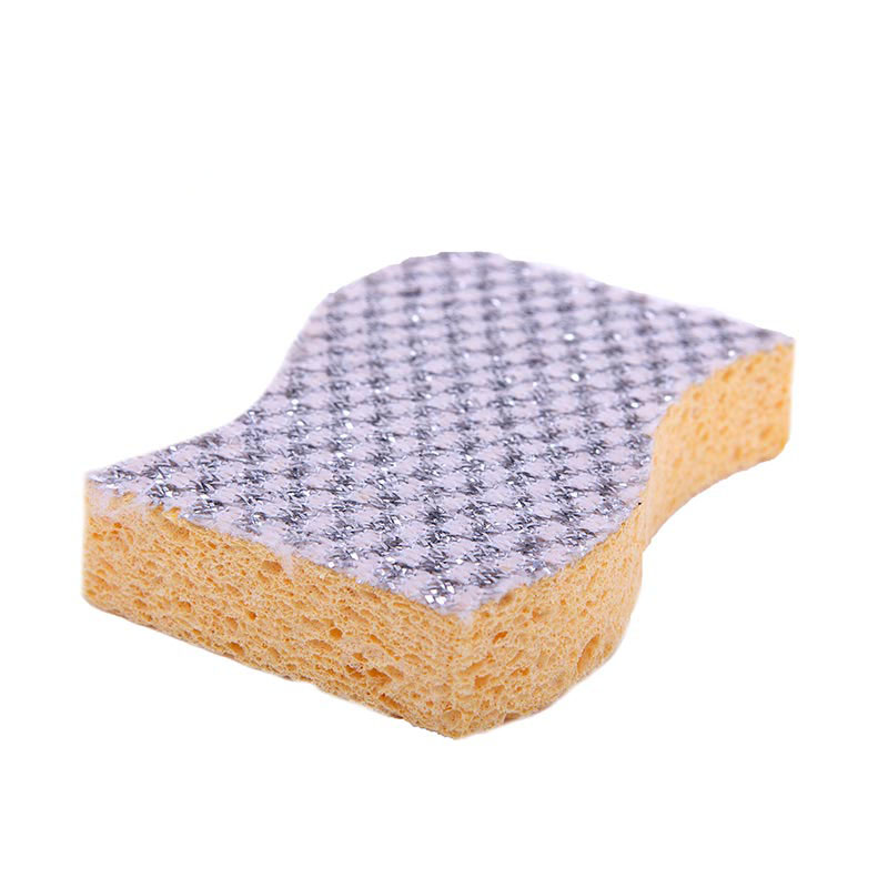DH-A5-8 高品质的环保多功能波浪清洁用银洋葱布清洗厨房海绵刷