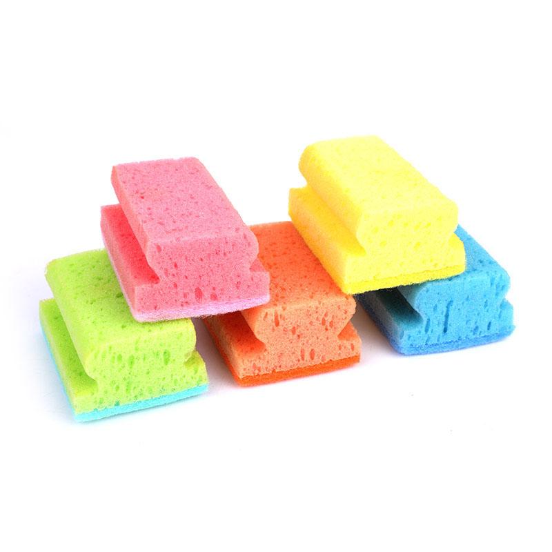 DH-A1-10 带凹槽的厨房清洁海绵洗涤器,用于洗碗