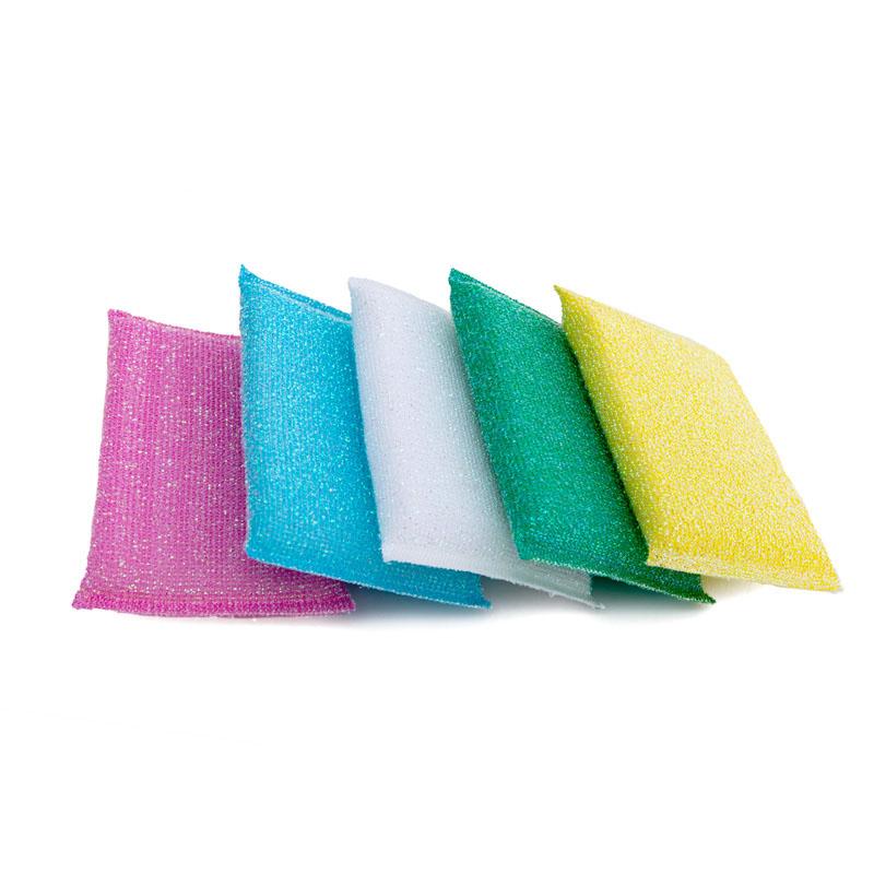 DH-A2-1批发多彩厨房清洁磨砂海绵刷纤维垫